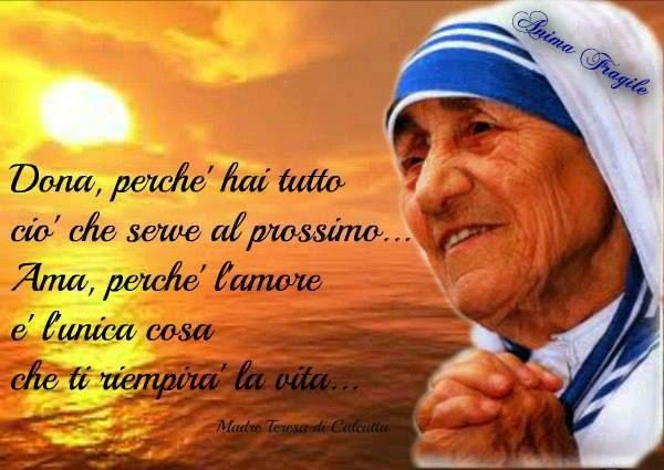 Auguri Matrimonio Madre Teresa : Festività anniversari ricorrenze associazione culturale