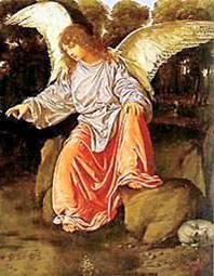 Uomo custode, angelo, pastore